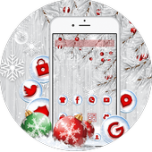 Silver Christmas Wallpaper icon