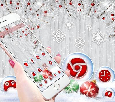 Silver Christmas Wallpaper poster