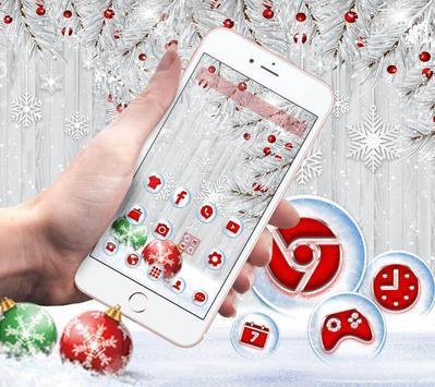 Silver Christmas Wallpaper screenshot 1