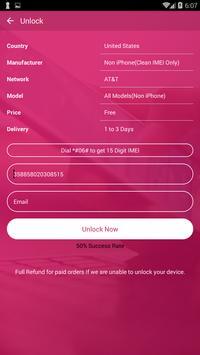 Free Unlock LG Mobile SIM screenshot 1