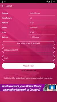 Free Unlock LG Mobile SIM screenshot 2