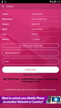 Free Unlock LG Mobile SIM screenshot 4