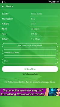Free Unlock Sony Mobile SIM screenshot 2