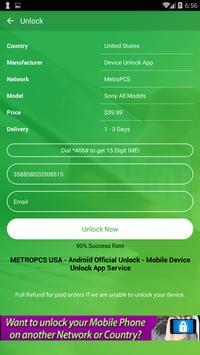 Free Unlock Sony Mobile SIM screenshot 4