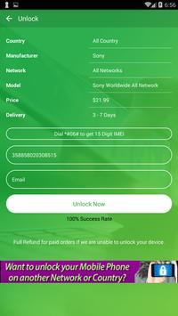 Free Unlock Sony Mobile SIM screenshot 5