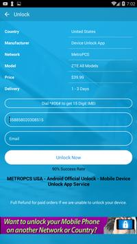 Free Unlock ZTE Mobile SIM screenshot 4