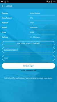 Free Unlock ZTE Mobile SIM screenshot 2