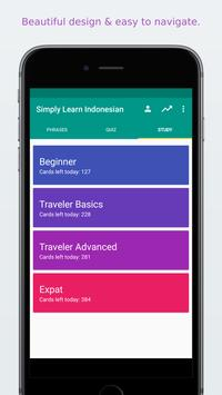 Simply Learn Indonesian apk screenshot