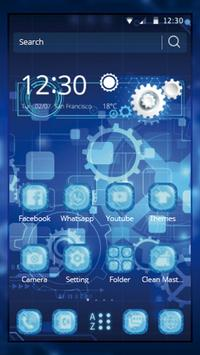 Tech Blue Gear Wallpaper apk screenshot