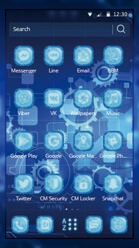 Tech Blue Gear Wallpaper For Android Apk Download