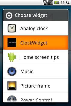 Clock Widget alpha version poster