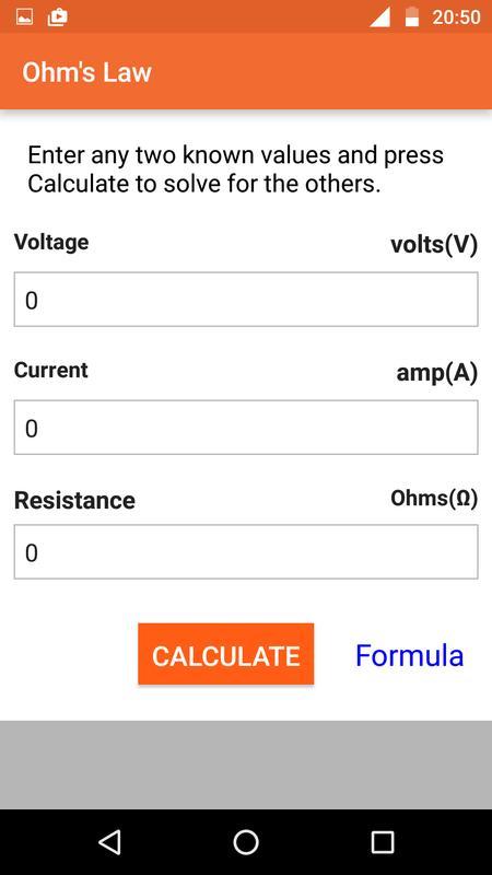 Electric circuit calculator apk download free tools app for electric circuit calculator apk screenshot ccuart Images