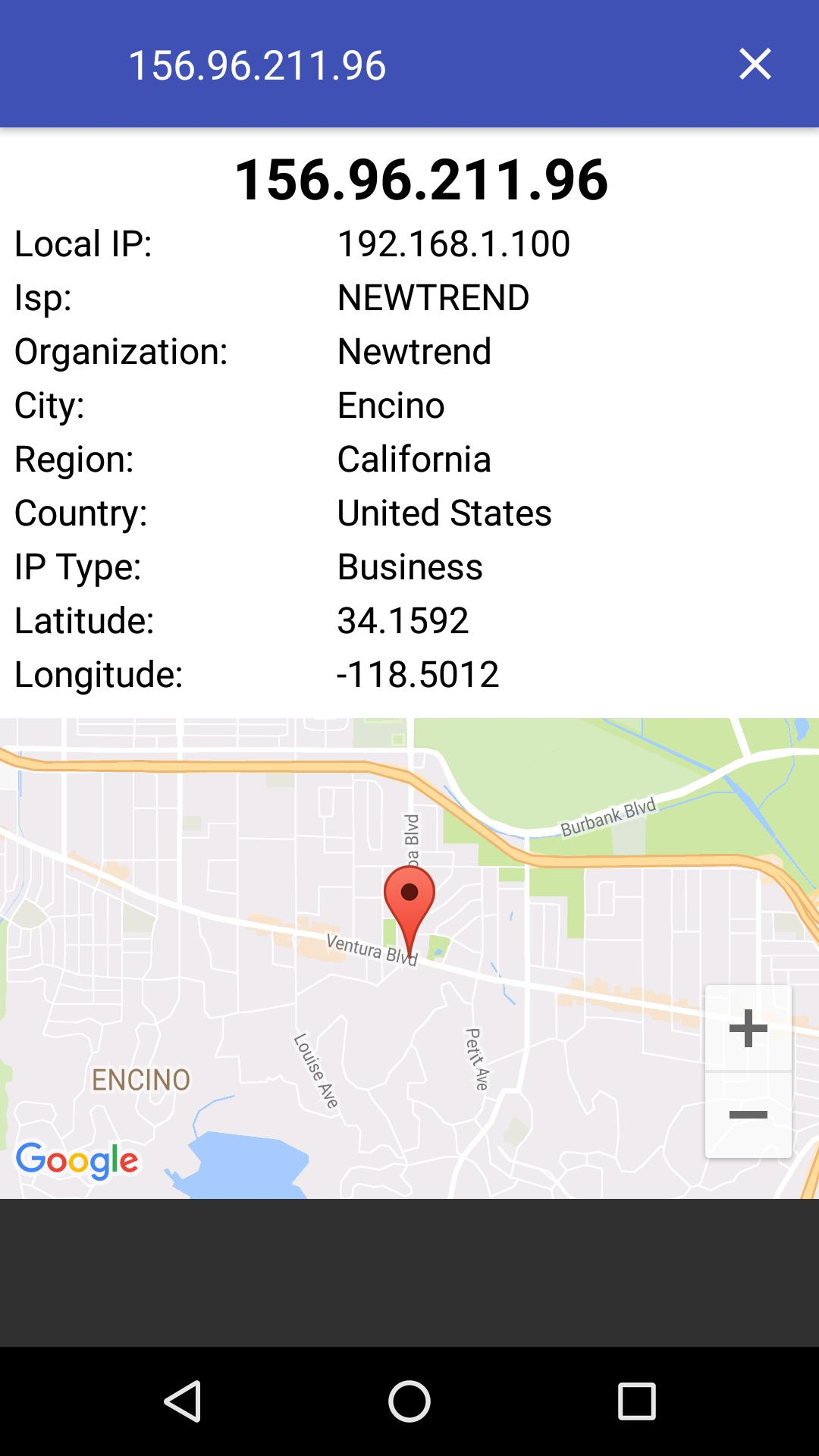 Find IP Address Location cho Android - Tải về APK