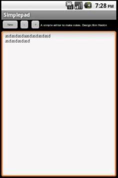 Simplepad poster