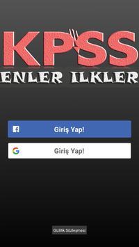 KPSS Enler ve İlkler poster