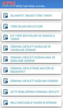 KPSS Enler ve İlkler apk screenshot