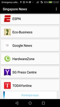 Singapore Newspapers apk screenshot