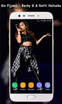 Sin Pijama - Natti Natasha , Becky G Wallpaper screenshot 12