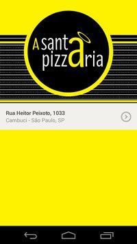 A Santa Pizzaria poster