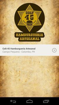 Colt 45 Hamburgueria Artesanal poster