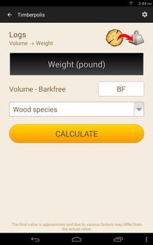 10 Schermata Wood calculators & Recorder - TIMBERPOLIS