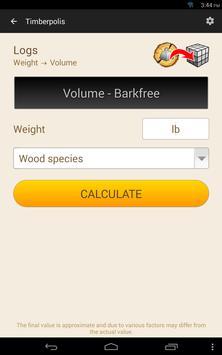 11 Schermata Wood calculators & Recorder - TIMBERPOLIS