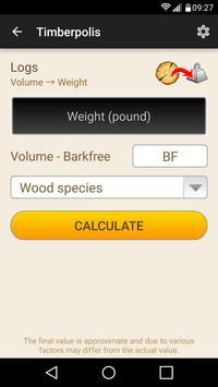 2 Schermata Wood calculators & Recorder - TIMBERPOLIS