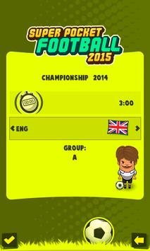 Super Pocket Soccer 2015 screenshot 2