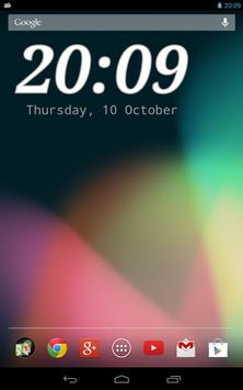DIGI Clock Widget apk screenshot