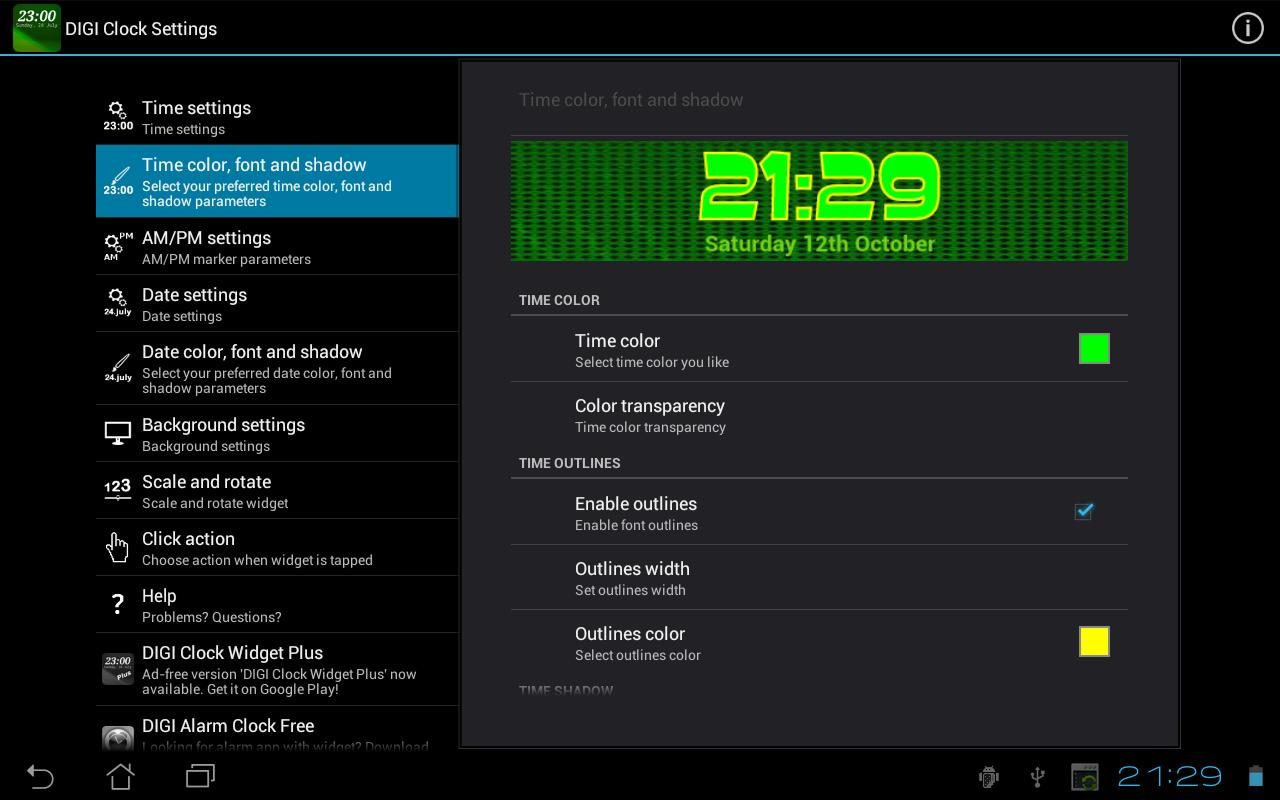 DIGI Clock Widget for Android - APK Download