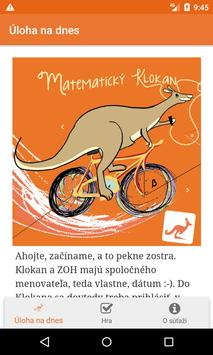 Matematický klokan poster