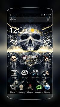 Skull Dark  Hell Fire Theme poster