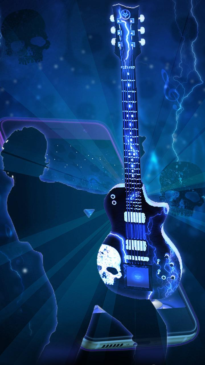 Neon Skull Guitar 3d Theme For Android Apk Download