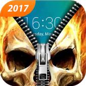 Skull Lock Screen & Skull Pattern Lock Screen icon