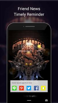 Skull Lock Screen & Skull Pattern Lock Screen poster