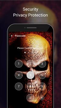 Skull Lock Screen & Skull Pattern Lock Screen apk screenshot