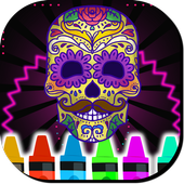Skulls Mandalas For Adults icon