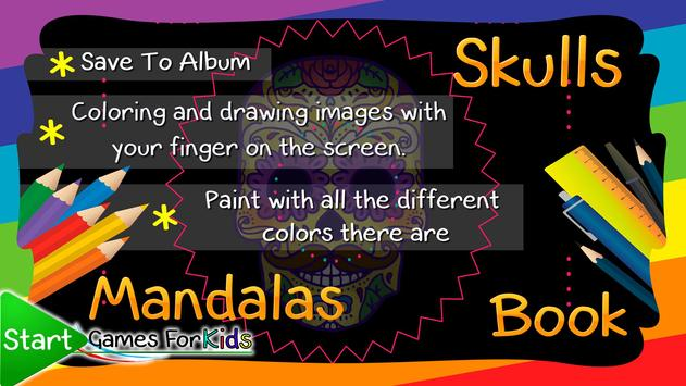 Skulls Mandalas For Adults apk screenshot