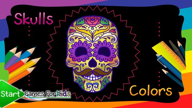 Skulls Mandalas For Adults poster