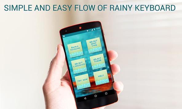 2016 Rain Keyboard poster