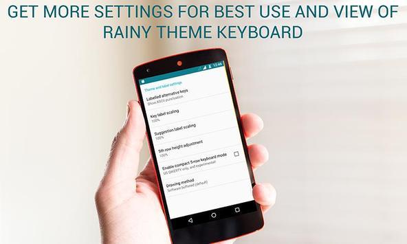 2016 Rain Keyboard apk screenshot