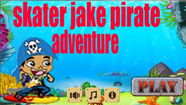 skater jake pirate adventure poster