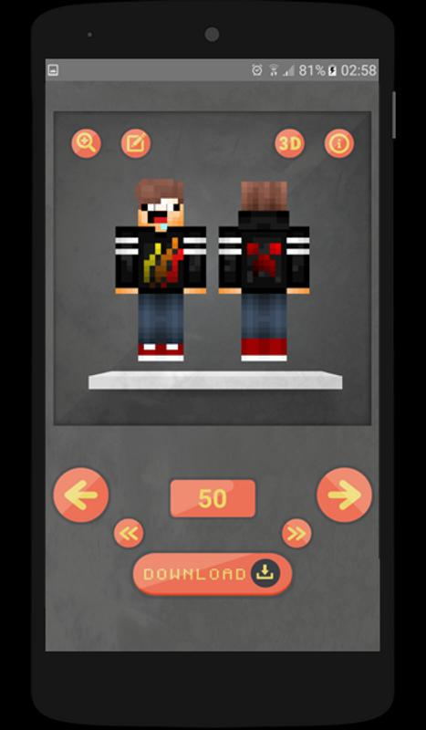 Skin Minecraft Anime Editor For Android APK Download - Skin minecraft para la 1 8