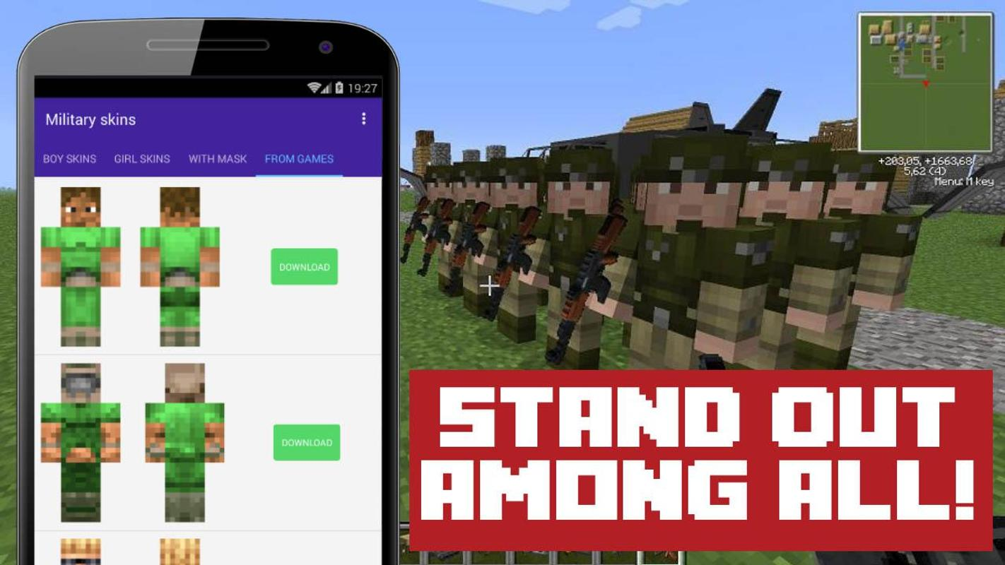 Military Skins For Minecraft APK Download Free Books Reference - Baixar skins para minecraft de pc