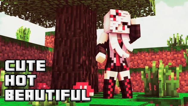 Cute girls skins for minecraft poster