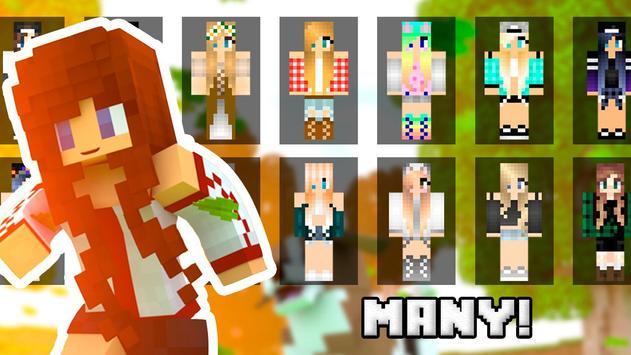 Cute girls skins for minecraft apk screenshot