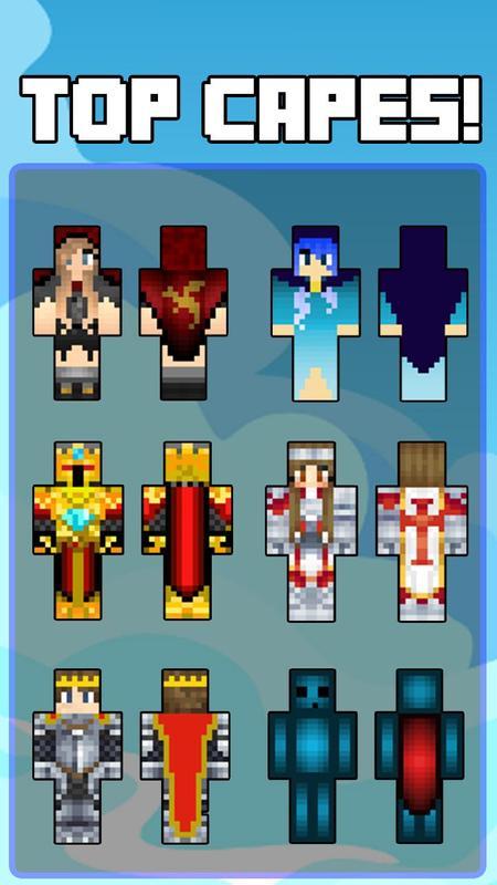 Pieles De Capa Para Minecraft Descarga APK Gratis Entretenimiento - Skins para minecraft pe con capa