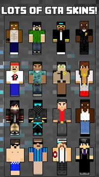 Skins GTA for Minecraft poster
