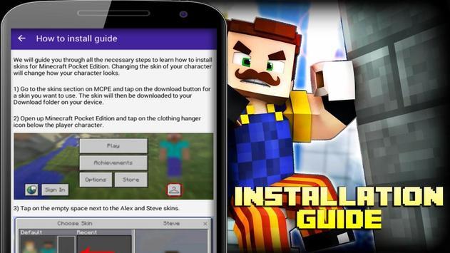 Skins Hello Neighbor For Minecraft APK Download Free Tools APP For - Skins fur minecraft zum downloaden
