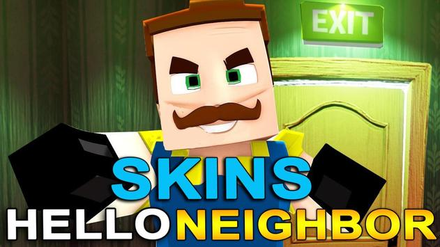 Skins Hello Neighbor for Minecraft poster